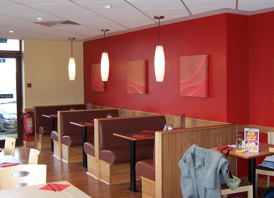 Restaurant interior design guidelines set up