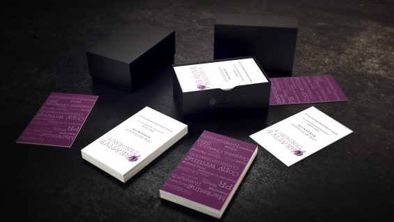Lucy grafham design portfolio logo and stationery design for the business card was produced using naturally textured laid paper the reverse of the card shows a cloud tag of all the services the company provides colourmoves